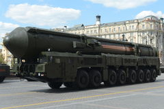 The RS-24 Yars or Topol-MR  is a Russian MIRV-equipped, thermonuclear weapon intercontinental ballistic missile Stock Photography