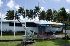 拉罗通加RSA在拉罗通加库克群岛棍打 库存照片