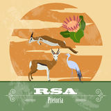RSA  landmarks. Retro styled image Royalty Free Stock Photography