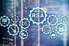 RSA Système cryptographique de Rivest Shamir Adleman Sécurité de cryptographie et de réseau photos stock