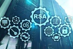 RSA Syst?me cryptographique de Rivest Shamir Adleman S?curit? de cryptographie et de r?seau image libre de droits