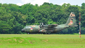 RSAF C-130 military transport plane taking off Royalty Free Stock Photos