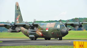 RSAF C-130 military transport plane taking off Royalty Free Stock Photography