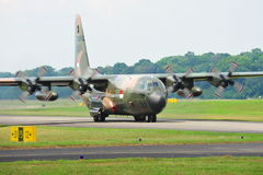 RSAF C-130 military transport plane taking off Stock Images