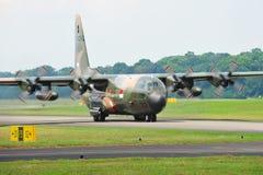 RSAF C-130 military transport plane taking off Stock Images