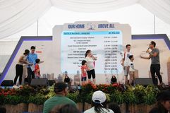 Game activities on stage during the RSAF50 years event at Singapore Jurong East Royalty Free Stock Images