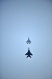 RSAF F-15SG overtaking maneuver during NDP 2012 Royalty Free Stock Images