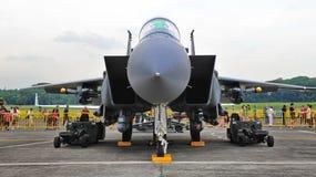 RSAF F-15SG Schlag-Adler auf Bildschirmanzeige Stockfoto