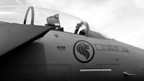 RSAF F-15SG Schlag-Adler auf Bildschirmanzeige Lizenzfreie Stockfotografie