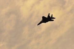 RSAF F-15SG Schlag-Adlerflugwesen im Himmel Lizenzfreies Stockbild