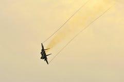 RSAF F-15SG Schlag-Adlerflugwesen im Himmel Stockbilder