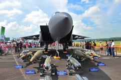 RSAF F-15SG Strike Eagle on display Royalty Free Stock Image