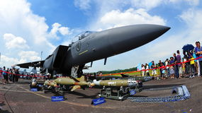 RSAF F-15SG Strike Eagle on display Stock Photos