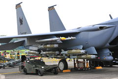 RSAF F-15SG Strike Eagle on display Stock Image