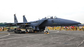 RSAF F-15SG Strike Eagle on display Stock Images