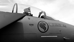 RSAF F-15SG Strike Eagle on display Royalty Free Stock Photography