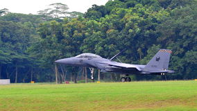RSAF F-15SG Strike Eagle landing Royalty Free Stock Image