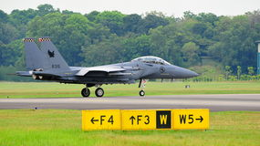 RSAF F-15SG Strike Eagle scrambling Stock Photography