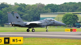RSAF F-15SG Strike Eagle scrambling Stock Photo