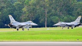 RSAF F-16C/D Fighting Falcon scrambling Stock Photo