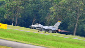 RSAF F-16C/D Fighting Falcon scrambling Stock Images