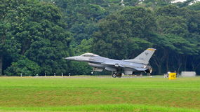 RSAF F-16C/D Fighting Falcon scrambling Stock Photography