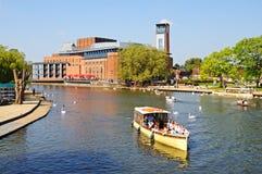 RSC och flod Avon, Stratford-på-Avon Royaltyfri Bild
