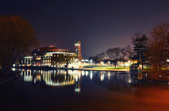 RSC Theater and The Avon River. 'Royal Shakespeare Theatre' and the Avon river, Stratford-upon-Avon, Warwickshire, England Royalty Free Stock Photography