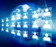 Réseau d'affaires globales Photo libre de droits