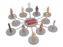 Réseau social de media Photos stock