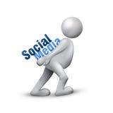Réseau social de medias Photographie stock