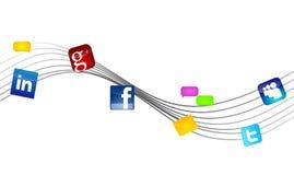 Réseaux sociaux de medias Images libres de droits