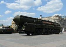 RSEN-24 (RT-24) Yars eller Topol-HERR är enutrustad ryss, termonukleärt vapen Royaltyfria Foton