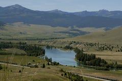 Réserve _oldest nationale de Bison Range Image stock