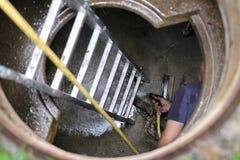 Réservoir de l'eau de nettoyage Photo libre de droits