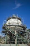 Réservoir pétrochimique de sphères Photographie stock libre de droits
