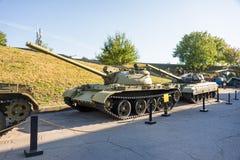 Réservoirs soviétiques de combat de la deuxième guerre mondiale dans le musée Images libres de droits