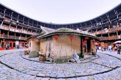 Résidence traditionnelle de Southen Chine, château de la terre Image libre de droits