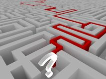 Résolution d'un labyrinthe Photo stock