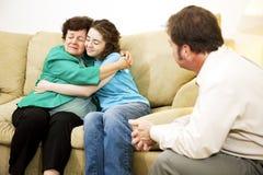 Résolution du conflit de famille Photographie stock libre de droits