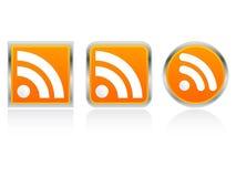 rss иконы Стоковое Изображение
