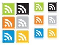 rss иконы Стоковые Изображения RF