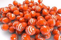 rss balls vector illustration