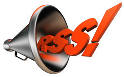 Rss bullhorn Royalty Free Stock Photos