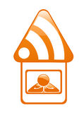 RSS Button. New RSS sign for Your blog or website Royalty Free Stock Photography