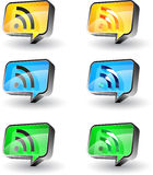 Rss button Royalty Free Stock Image