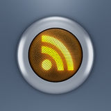 RSS button concept Royalty Free Stock Photography