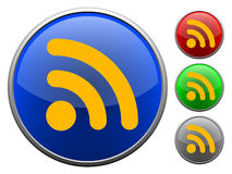 RSS Button / icon Stock Photo