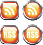 RSS Buttons Stock Image