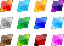 rss buttons Royalty Free Stock Photography